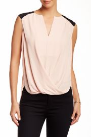 Sleeveless Faux Wrap Blouse at Nordstrom Rack