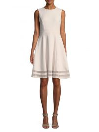 Sleeveless Fit & Flare Dress by Calvin Klein at Saks Off 5th
