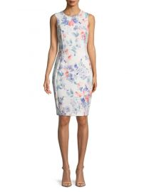 Sleeveless Floral Sheath Dress by Calvin Klein at Saks Off 5th