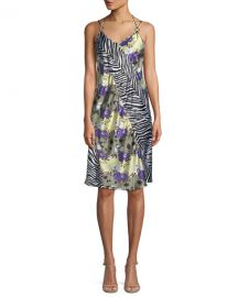Sleeveless Floral Zebra Silk Dress by Opening Ceremony at Neiman Marcus