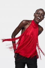 Sleeveless Fringe Top by Zara at Zara