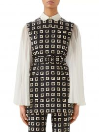 Sleeveless G Lettering on Faille Print Top at Saks Fifth Avenue