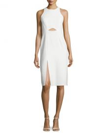 Sleeveless High-Neck Fitted Cutout Dress at Neiman Marcus