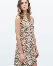 Sleeveless Jacquard Dress at Zara