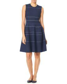 Sleeveless Mini-Striped Knee-Length Knit Dress at Bergdorfgoodman