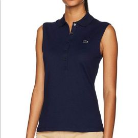 Sleeveless Navy Polo by Lacoste at Lacoste