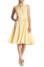 Sleeveless Pleated Upper Dress by NANETTE Nanette Lepore at Nordstrom Rack