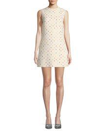 Sleeveless Polka-Dot Crepe Couture Dress at Bergdorf Goodman
