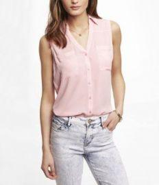 Sleeveless Portofino Shirt at Express