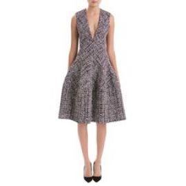 Sleeveless Tweed Dress at J Mendel