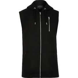 Sleeveless hoodie at River Island