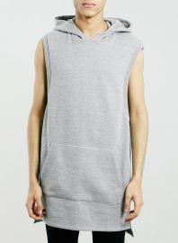 Sleeveless hoodie tunic at Topman