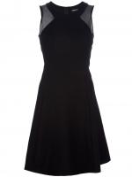 Sleeveless mesh dress by DKNY at Farfetch