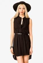 Sleeveless shirt dress at Forever 21