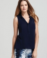 Sleeveless shirting top by Splendid at Bloomingdales