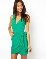 Sleeveless wrap dress at Asos