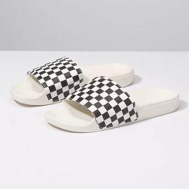 Slide-On Checkerboard Sandals by Vans at Vans