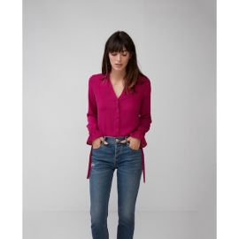Slim Fit No Pocket Cinched Cuff Portofino Shirt at Express
