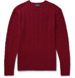Slim-Fit Cable-Knit Wool And Cashmere-Blend Sweater at Mr Porter