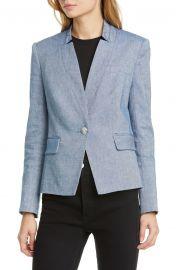 Slim-Fit High-Collar Blazer by Veronica Beard at Nordstrom