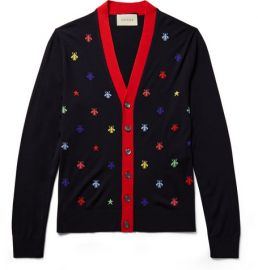 Slim-Fit Intarsia Wool Cardigan at Mr Porter