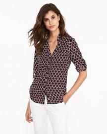 Slim Fit Quarterfoil Portofino Shirt at Express