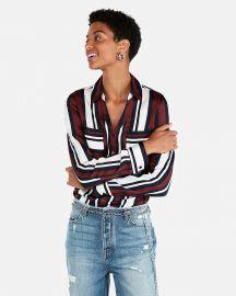 Slim Fit Stripe Portofino Shirt at Express