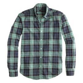 Slim Secret Wash shirt in heather midnight plaid at J. Crew