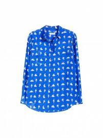 Slim Signature Nautical Blue Bunny Print Shirt at Equipment
