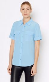 Slim Signature Short Sleeve Shirt at Equipment