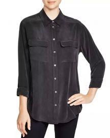 Slim Signature Silk Shirt at Bloomingdales