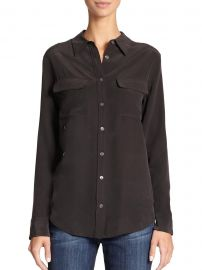 Slim Signature Silk Shirt at Saks Fifth Avenue