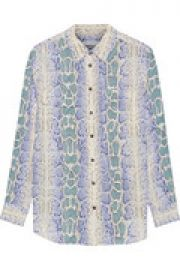 Slim Signature snake-print washed-silk top at The Outnet
