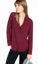 Slim fit convertible sleeve portofino shirt at Express