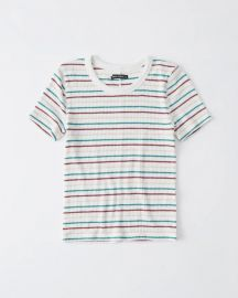 Slim ribbed tee at Abercrombie