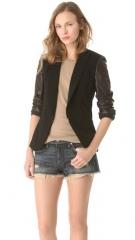 Sliver jacket by Rag and Bone in black at Shopbop