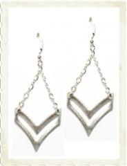 Sloan Chevron Earrings at Brooklyn Designs