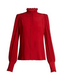Sloan ruffled high-neck blouse at Matches