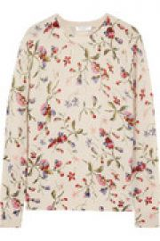 Sloane floral-print cashmere sweater at The Outnet