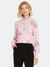 Sloane ruffle neck blouse at Verishop