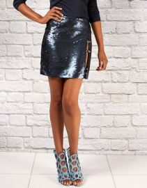 Sly Sequin Mini Skirt by Randi Rahm at Randi Rahm