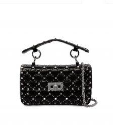 Small Rockstud Spike Leather Bag by Valentino at Luisaviaroma