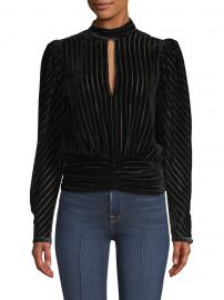 Smocked Velvet Party Top at Saks Fifth Avenue