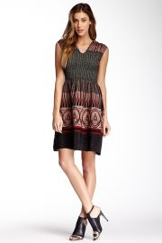 Smocked Jacquard Dress at Nordstrom Rack