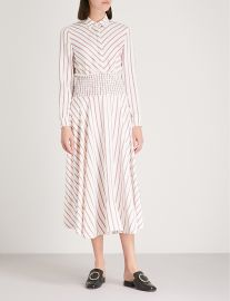 Smocked waist midi dress at Selfridges