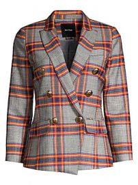 Smythe - Mini Double Breasted Plaid Blazer at Saks Fifth Avenue