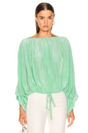 Smythe Butterfly Blouse in Aqua   FWRD at Forward