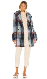 Smythe Car Coat in Mohair Plaid from Revolve com at Revolve