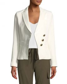 Smythe Double-Breasted Three-Button Wrap Blazer at Neiman Marcus