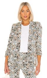 Smythe Lounge Blazer in Graphic Floral from Revolve com at Revolve